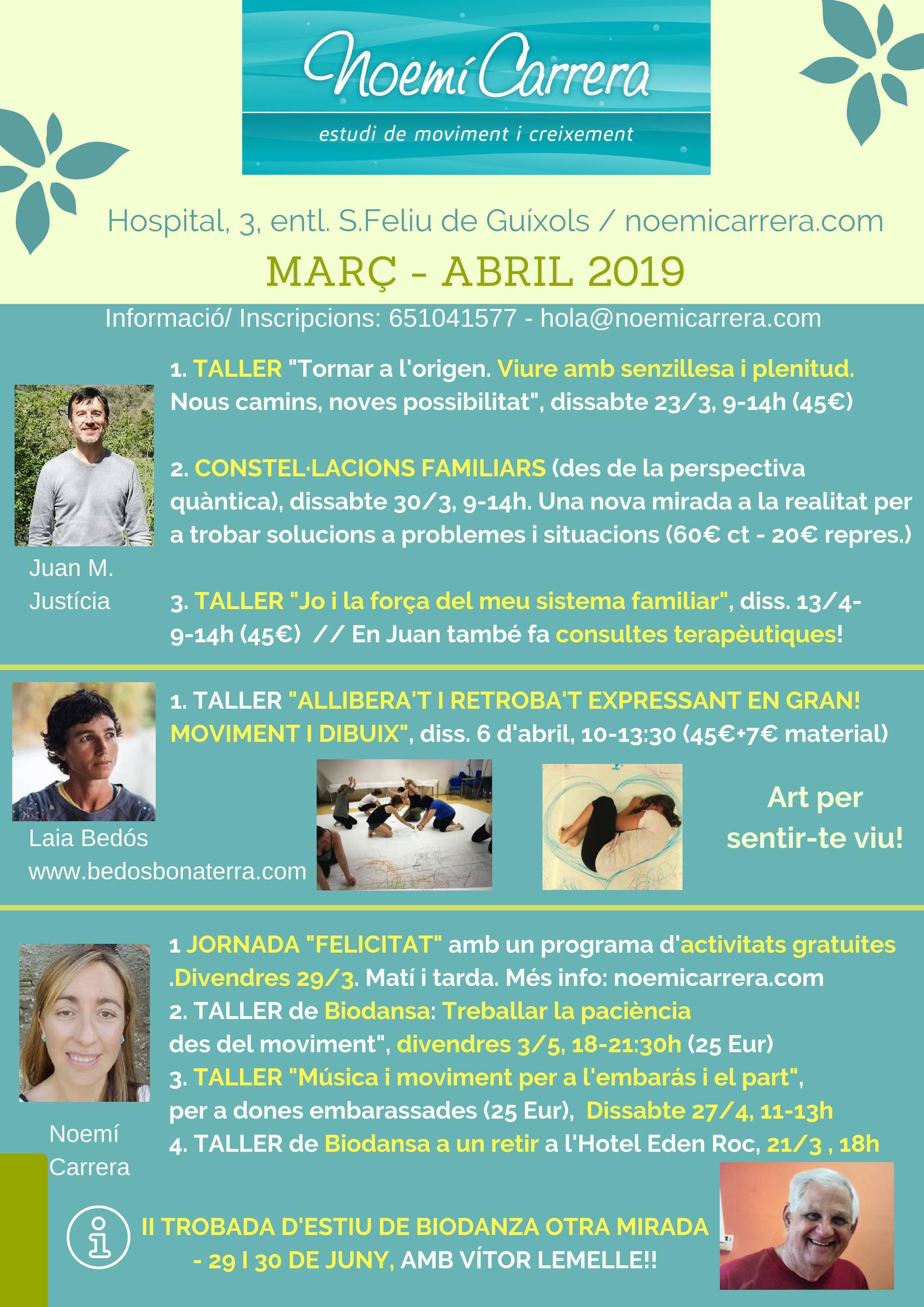 Noemí Carrera Biodanza Març Abril