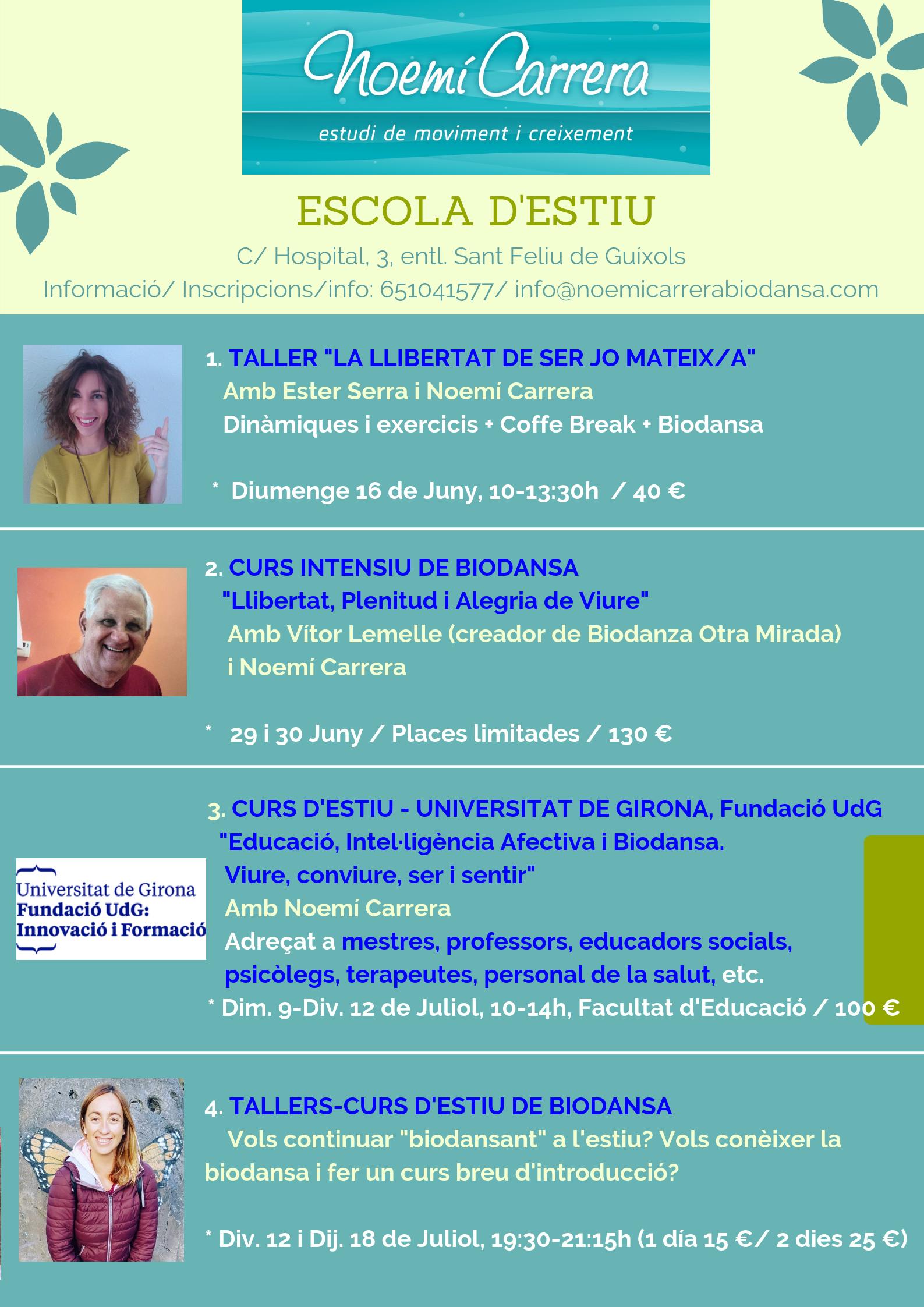 Noemí Carrera Biodanza Girona Estiu
