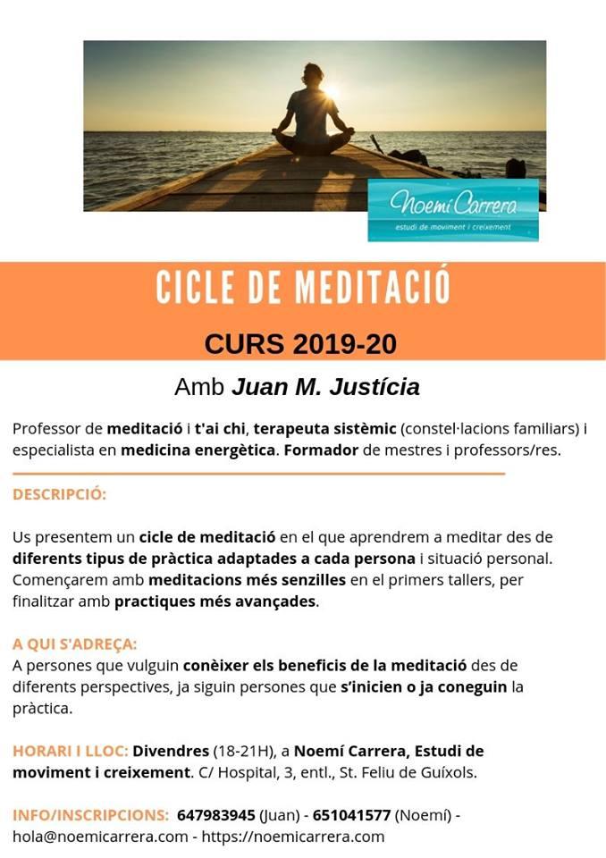 Classes Meditació Juan Girona Noemí Carrera