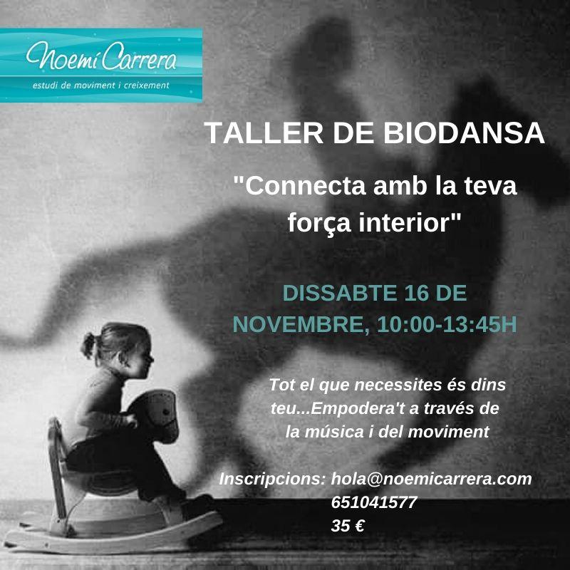 Taller Biodanza Girona Noemí Carrera Força interior