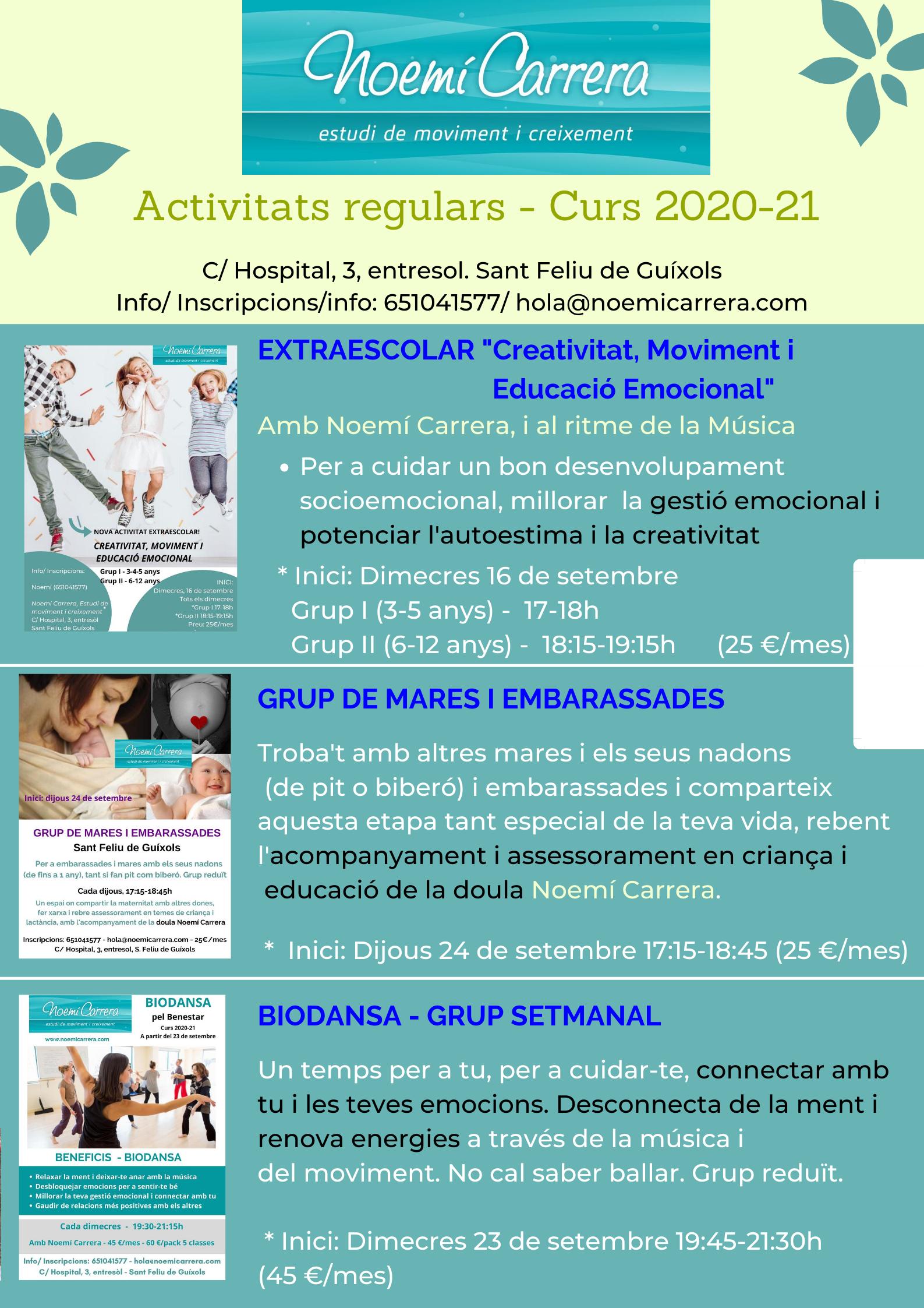 Activitats regulars 2020-21